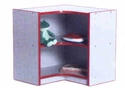 PRESCHOOL Inside Corner Storage Unit w/ Casters
