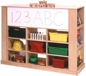 Universial Cubbie Tray Storage Island<br>