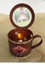 Angel Primitive Tin Cup with Lid & Votive Holder - Crazy Mountain