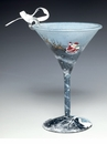 Around the World Mini-tini Martini Glass Ornament - Lolita