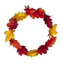 Autumn Leaves Wreath - Round Top Fall Collection