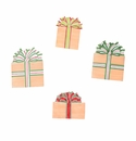 Burlap Packages Magnets- Asst. 4 - Round Top Christmas Collection
