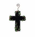 Chalkboard Cross Ornament - Round Top Christmas Collection