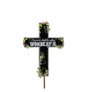 Chalkboard Cross W/ words - Round Top Christmas Collection