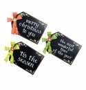 Chalkboard Gift Tags, Asst. 3 - Round Top Christmas Collection