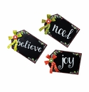 Chalkboard Gift Tags Lg. - Asst. 3 - Round Top Christmas Collection