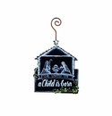 Chalkboard Nativity Ornament - Round Top Christmas Collection