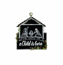 Chalkboard Nativity - Round Top Christmas Collection