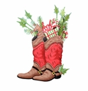 Cowboy Boots Decorated - Round Top Christmas Collection