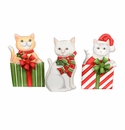 Cowboy Cats- Asst. 3 - Round Top Christmas Collection