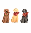 Cowboy Dogs- Asst. 3 - Round Top Christmas Collection