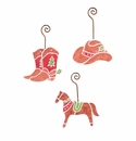 Cowboy Gingerbread Ornaments- Asst. 3 - Round Top Christmas Collection