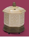 Embossed White Hex Votive Warmer - Crazy Mountain