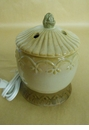 Embossed White Votive Warmer - Crazy Mountain