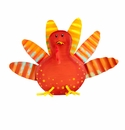 Fancy Fall Turkey Magnet - Round Top Fall Collection