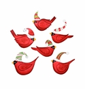 Ho Ho Bird in Hat Magnets- Asst. 6 - Round Top Christmas Collection