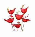 Ho Ho Birds in Hats- Asst. 6 - Round Top Christmas Collection