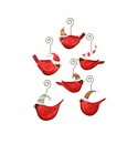 Ho Ho Birds in Hats Ornaments- Asst. 6 - Round Top Christmas Collection
