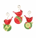 Ho Ho Cardinal on Ornaments- Asst. 3 - Round Top Christmas Collection