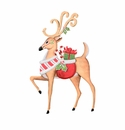 Ho Ho Deer W/ Gifts- Md - Round Top Christmas Collection