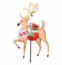 Ho Ho Deer W/ Gifts - Round Top Christmas Collection