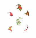 Ho Ho Hat Magnets- Asst. 6 - Round Top Christmas Collection