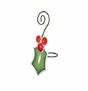 Ho Ho Holly Napkin Ring - Round Top Christmas Collection