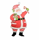 Ho Ho Peppermint Santa - Round Top Christmas Collection