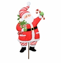 Ho Ho Peppermint Santa Sm - Round Top Christmas Collection