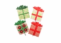 Ho Ho Plaid Gifts- Asst. 4 - Round Top Christmas Collection