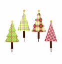 Ho Ho Plaid Trees- Asst. 4 - Round Top Christmas Collection