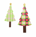 Ho Ho Plaid Trees Lg- Asst. 2 - Round Top Christmas Collection