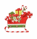 Ho Ho Sleigh W/ Gifts - Round Top Christmas Collection