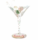 Holiday Cookies Mini-tini Martini Glass Ornament - Lolita