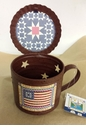 In God We Trust Primitive Tin Cup with Lid and Votive Holder - Crazy Mountain