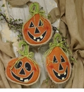 Jack O Lantern Burlap - Asst. 3 - Round Top Fall Collection