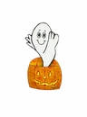 MD Anderson Tanner's Ghost in a Pumpkin- Md. - Round Top Fall Collection