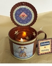 Nativity Primitive Tin Cup with Lid and Votive Holder  - Crazy Mountain
