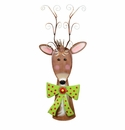 Ornament Deer Lg - Round Top Christmas Collection