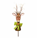 Ornament Deer Sm - Round Top Christmas Collection