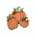 Painted Burlap Pumpkins-Asst. 3 - Round Top Fall Collection