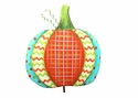 Patterned Pumpkin-Lg - Round Top Fall Collection