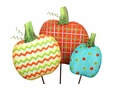 Patterned Pumpkin Trio-Asst. 3 - Round Top Fall Collection