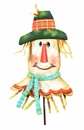 Patterned Scarecrow Head-Md - Round Top Fall Collection