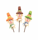 Patterned Scarecrow Head Trio-Asst. 3 - Round Top Fall Collection