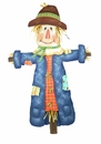 Patterned Scarecrow-Lg - Round Top Fall Collection