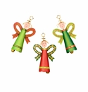 Plaid Angel Bells Md- Asst.3 - Round Top Christmas Collection