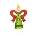 Plaid Angel- Lg - Round Top Christmas Collection