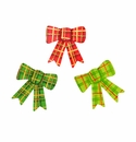 Plaid Bow Magnets- Ass.t 3 - Round Top Christmas Collection