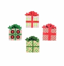 Plaid Gift Box Magnets- Asst. 4 - Round Top Christmas Collection